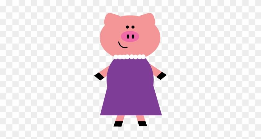 My First Clipart Endeavor - Mummy Pig Three Little Pigs #256377