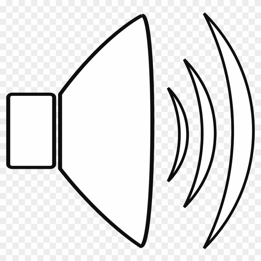 big image sound clip art black and white free transparent png