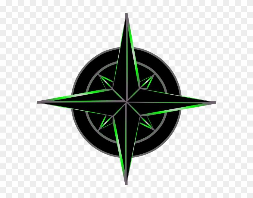 Navigation Symbol Black And Green Clip Art - Sword Shield Drawing Tattoo #257037