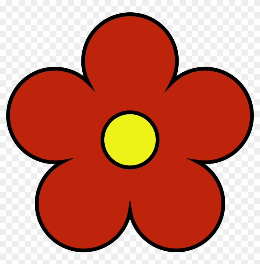 Outside Red Inside Yellow Flower Png Clipart Cute Red Flower
