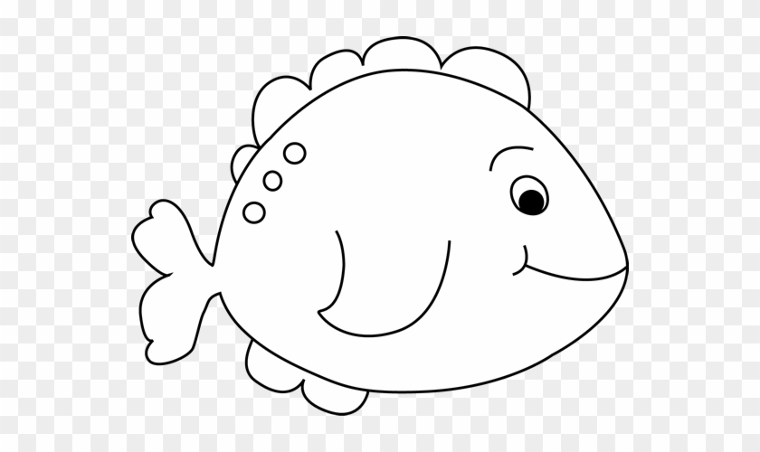 Black And White Little Fish Clip Art Image - Cute Fish Black And White Clipart #257149