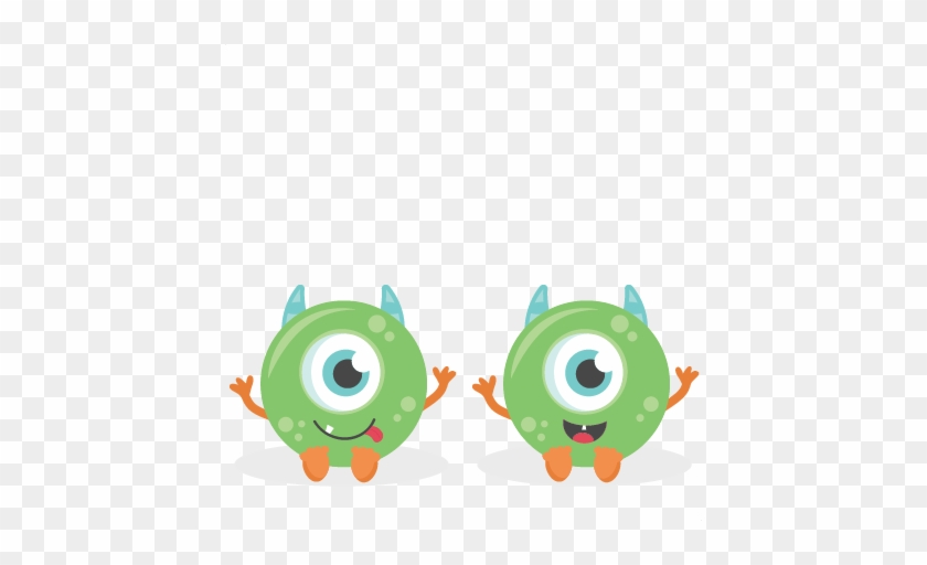 Twin Baby Boy Monsters Svg Scrapbook Cut File Cute Scalable Vector Graphics Free Transparent Png Clipart Images Download