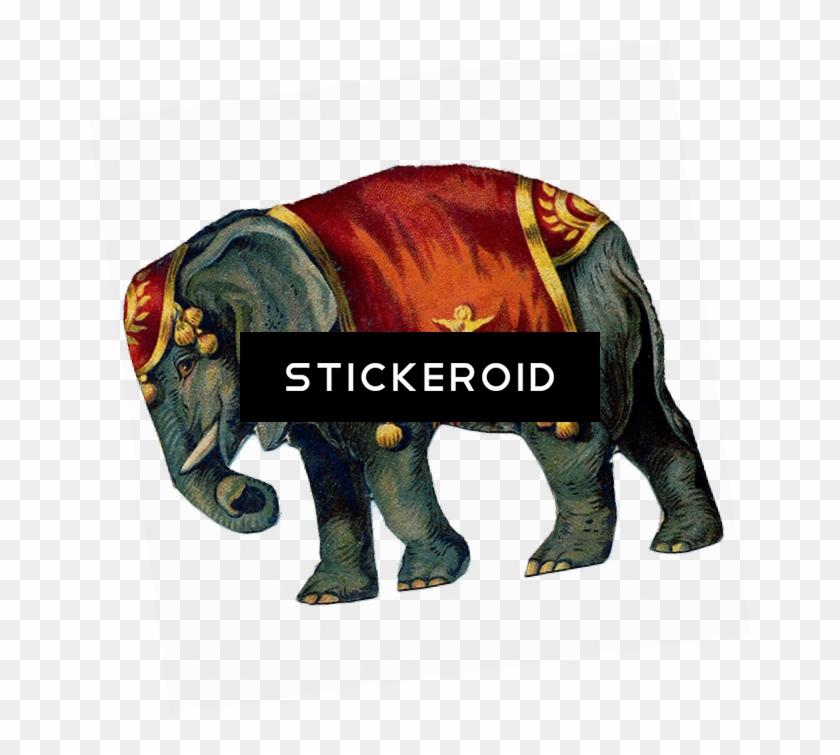 Victorian Vintage Circus Elephant - Circus Elephant Png Transparent #1657336
