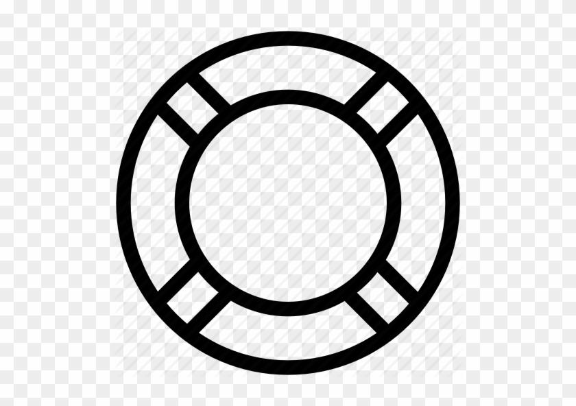 512 X 512 17 - White Life Ring Icon #1658265