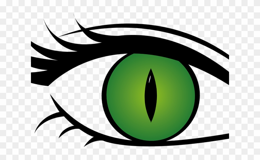 Green Eyes Clipart Cat Eye - Green Eyes Transparent Background #1658457