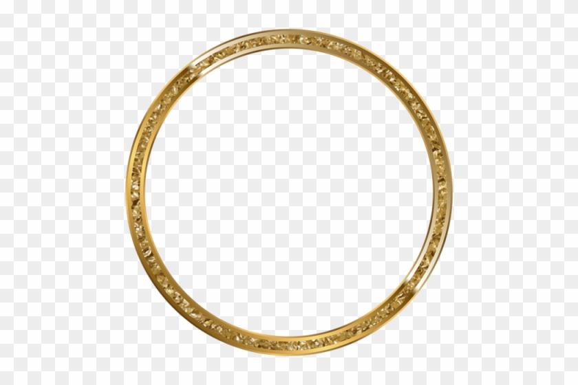 Free Png Download Round Border Frame Gold Clipart Png - Transparent Background Round Gold Frame #1659395