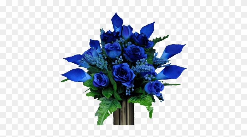 Transparent Calla Lilies Flowers Png Clipart Flores - Blue Flowers Bouquet Png #1665764