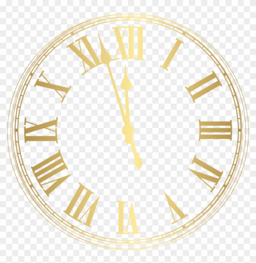 Free Png New Year Clock Png Images Transparent - New Year Clock 2019 Png #1667092