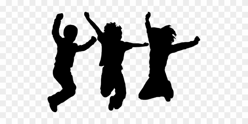 Silhouette Dancing Jumping People Kids Dance Silhouette Free Transparent Png Clipart Images Download