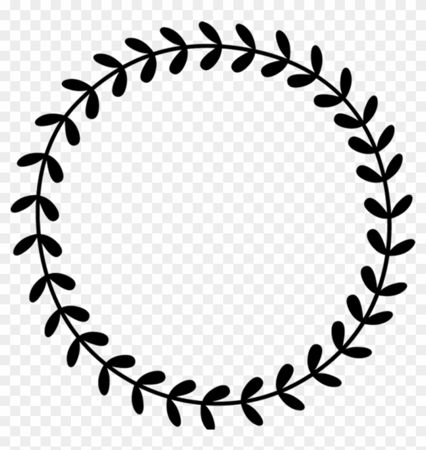 Border Frame Leaves Vines Wreath Circle Round Border - 2 Corinthians 12 9 10 #1672418