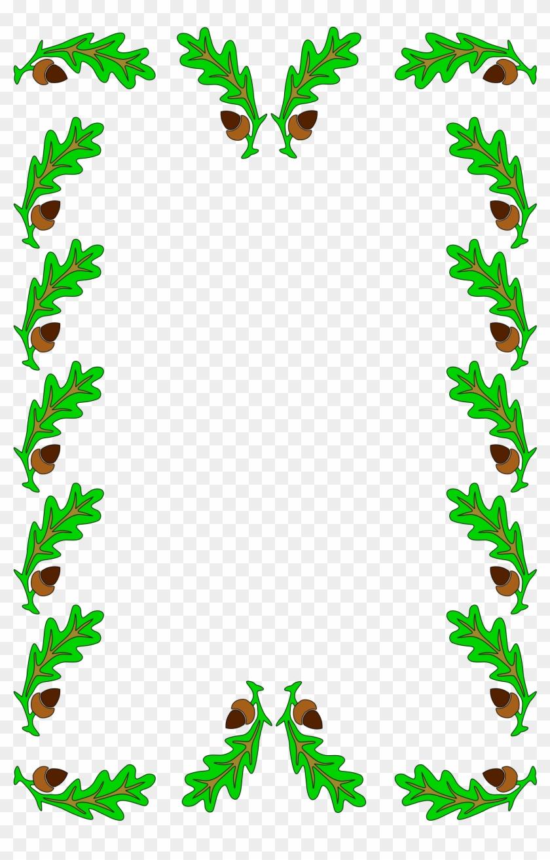 Vector Graphics, - Leaf Border Clip Art Png #1672422