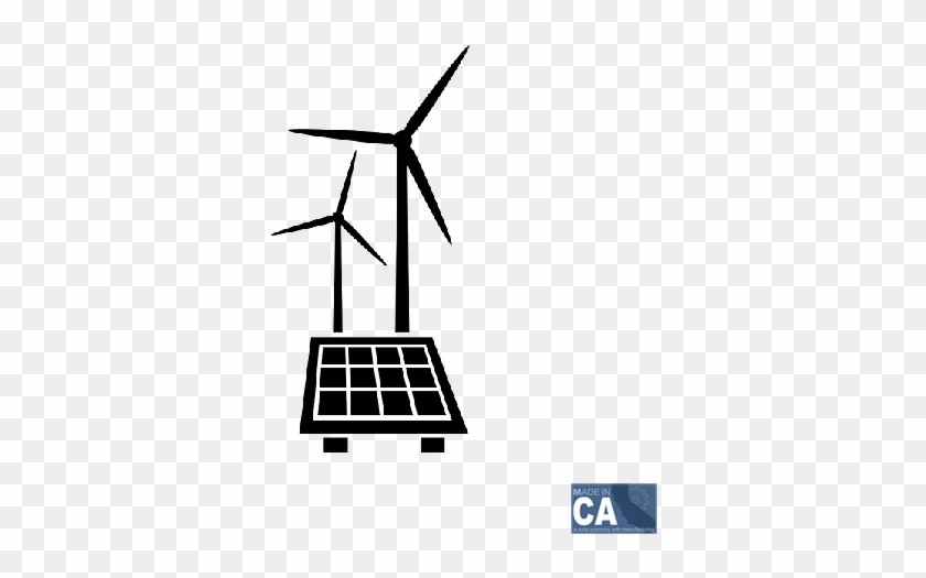 Solar And Wind - Clipart Solar And Wind Energy #1672745