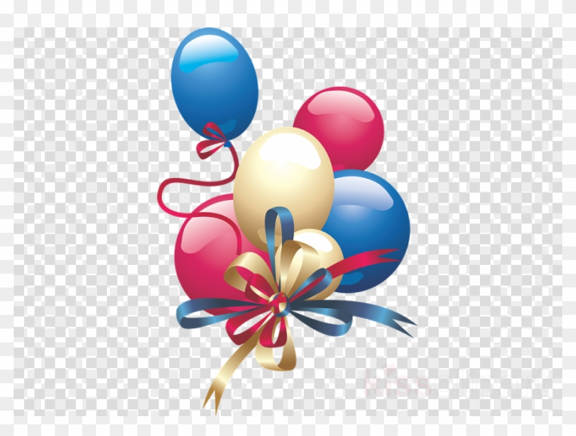 Balloon Birthday Party Graphics Png Clipart Free Download - Download Balon Png #1673471