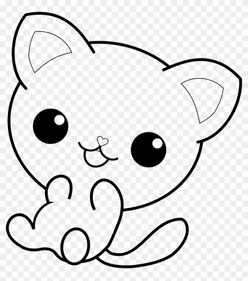 Big Image - Kawaii Cat Coloring Pages #1673475