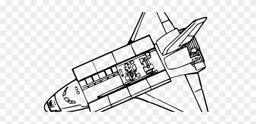 Top Space Shuttle Coloring Pages Nasa Challenger Clip - Space Shuttle Clip Art #1674628