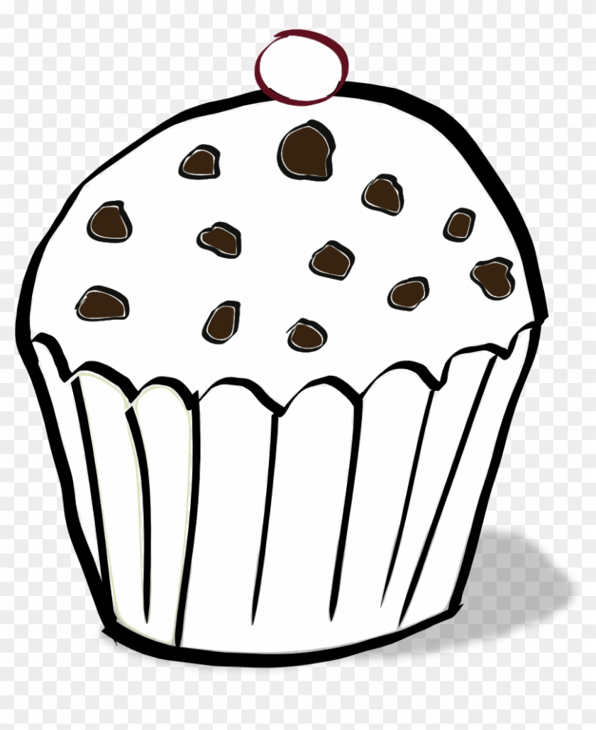 Cupcake Clipart Free Chocolate Chip Muffin Coloring Page Free Transparent Png Clipart Images Download