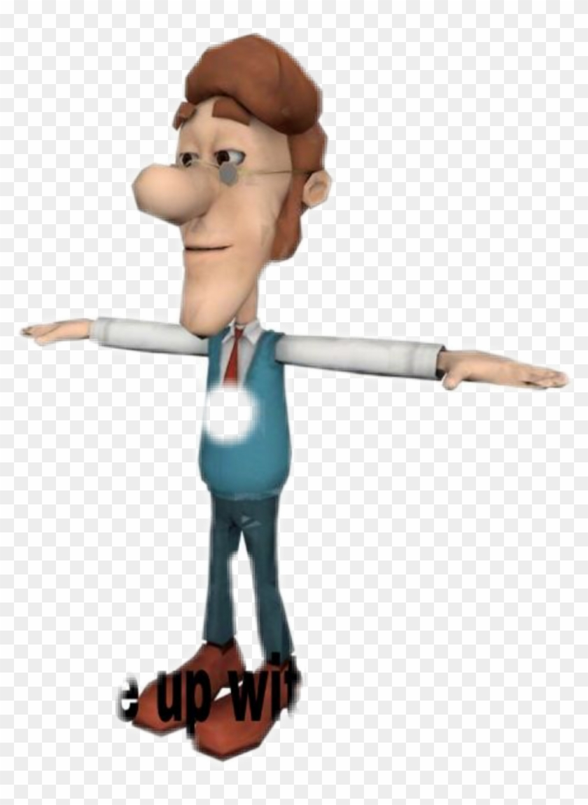 T Pose Jimmy Neutron Dad T Pose Free Transparent Png Clipart Images Download