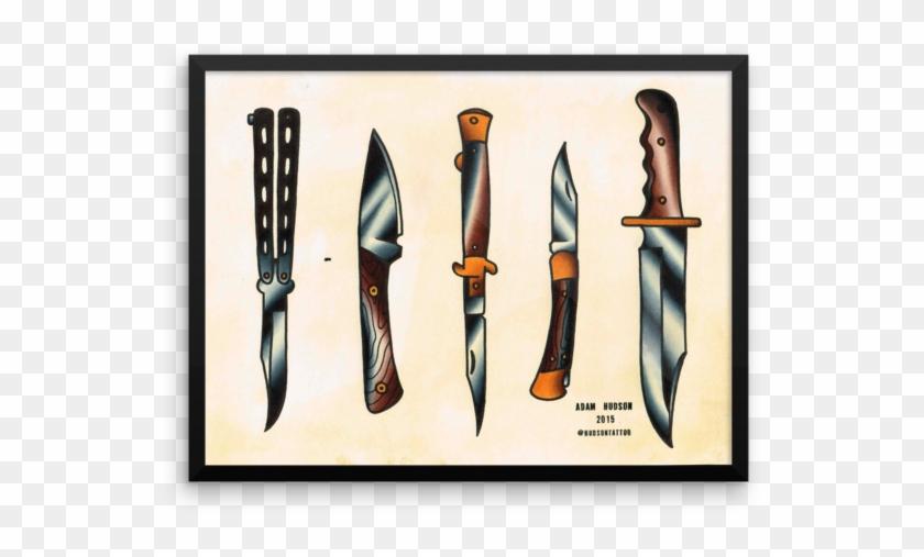 600 X 600 3 American Traditional Knife Tattoo Free