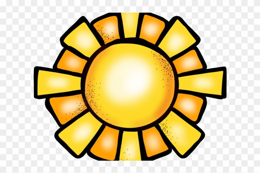 Sun Clipart August - Sunflower Clip Art Black And White #1678347