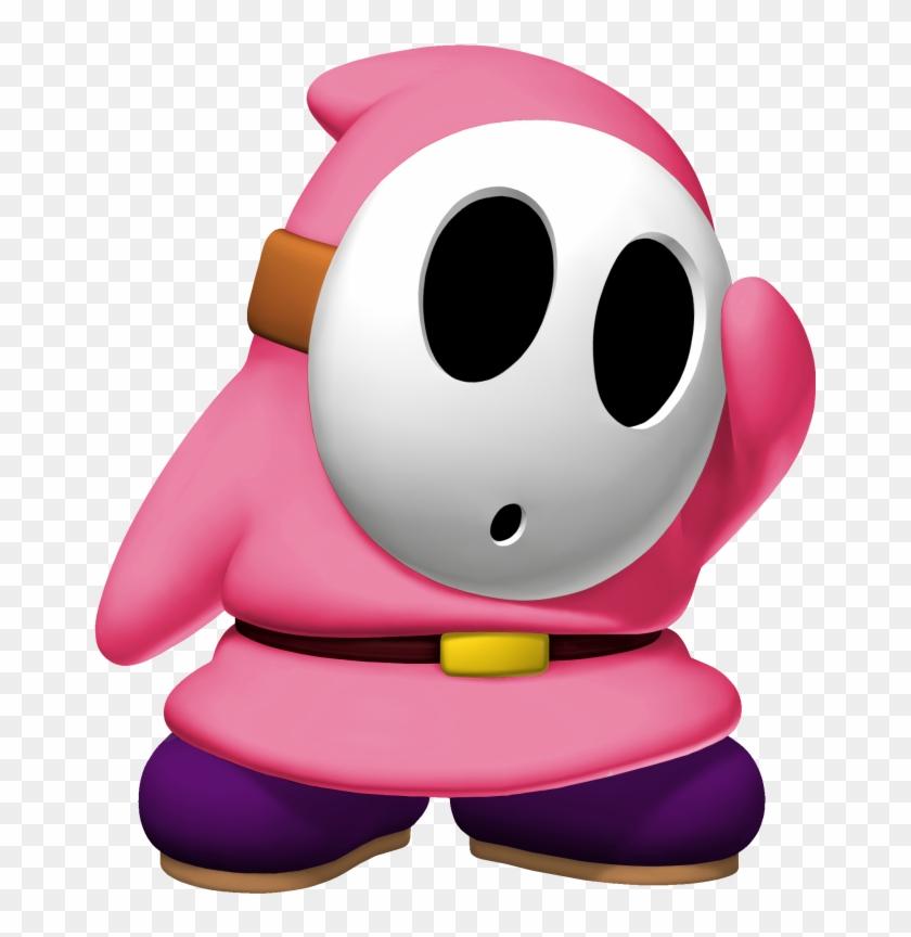 Pin Shy Clip Art - Pink Shy Guy Mario Kart - Free