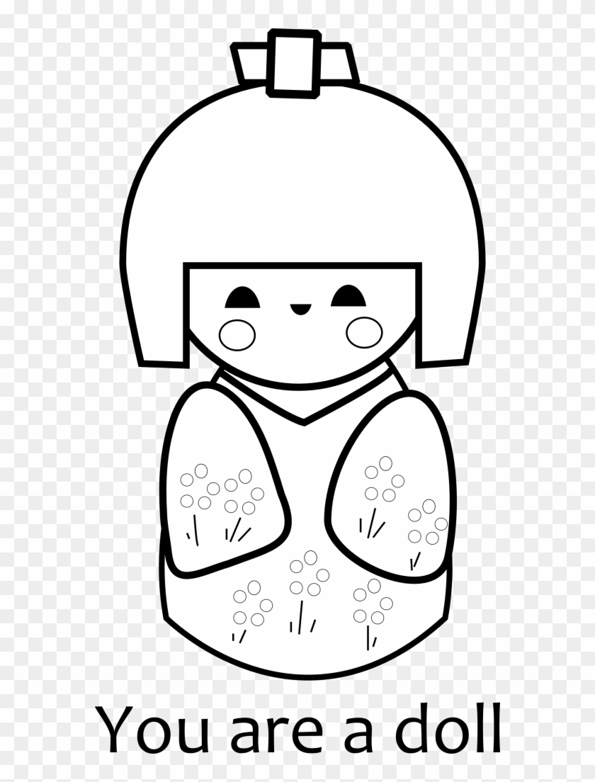 This is a graphic of Printable Doll for computer