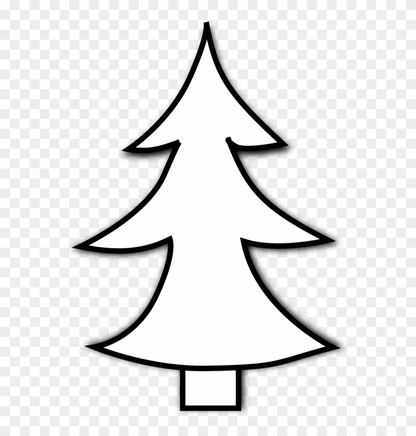 Download File - Christmas Tree Clipart Black And White Png #1680435