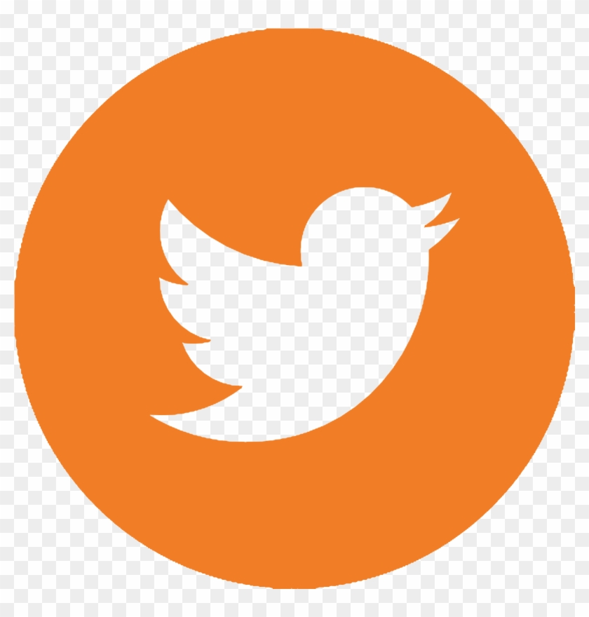 Twitter Facebook Linkedin - Number 2 Clipart Orange #1681764