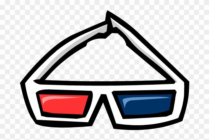 Blue Sunglasses Club Penguin - 3d Glasses Club Penguin #1681864