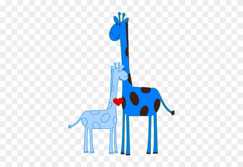 Boy Giraffe Baby Shower Clip Art At Clker Com Vector - Clip Art #257228