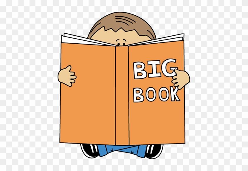 Boy Reading A Big Book Clip Art Big Book Clipart - Big Book Center Clipart #257545