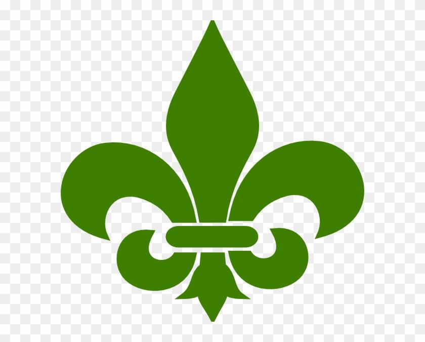Green Fleur De Lis 1 Clip Art - Fleur De Lis Svg #258063