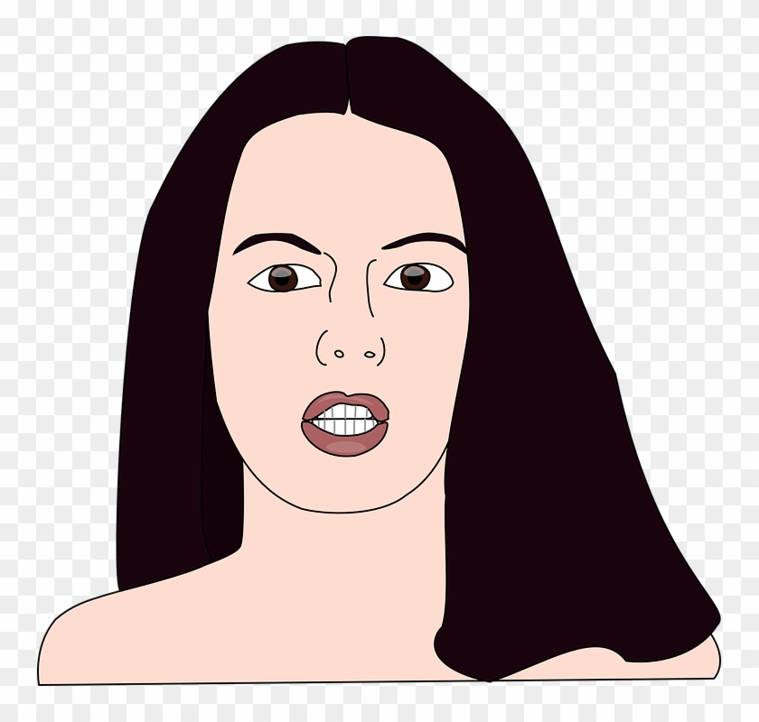 Free Vector Girl Head Clip Art - Girl Head #258121