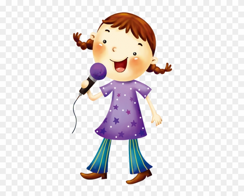 Cartoon Music Singing Clip Art - Singing Girl Clipart Png #258166