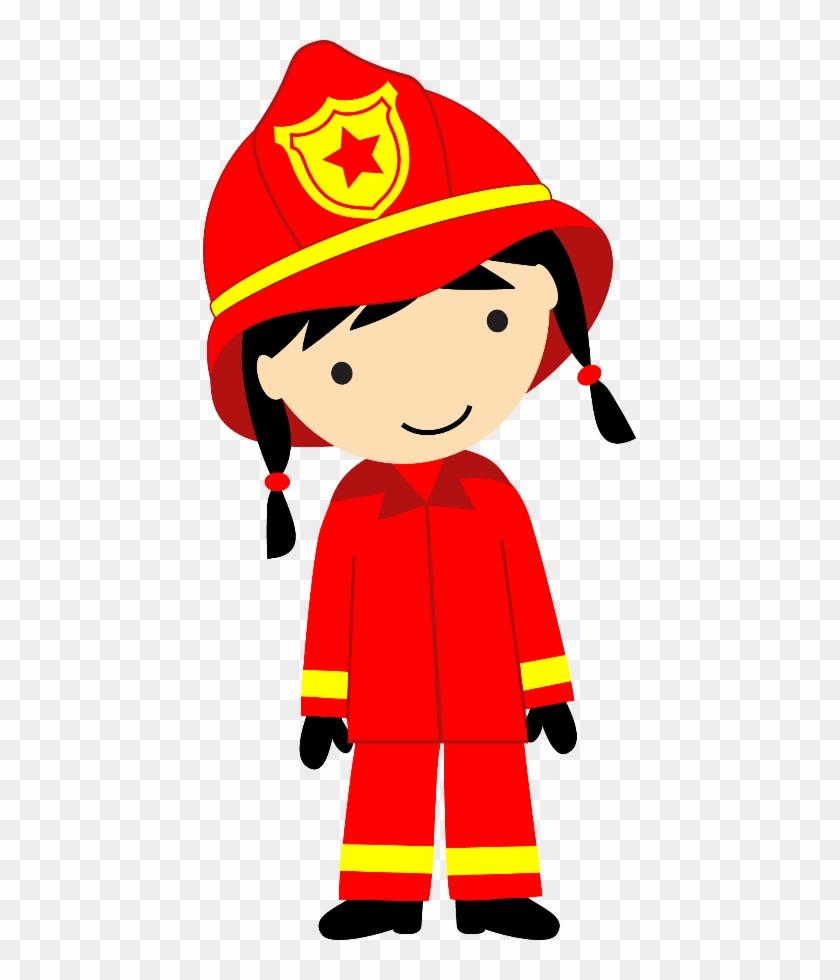 Bombeiros E Polícia - Female Firefighter Clipart #258476