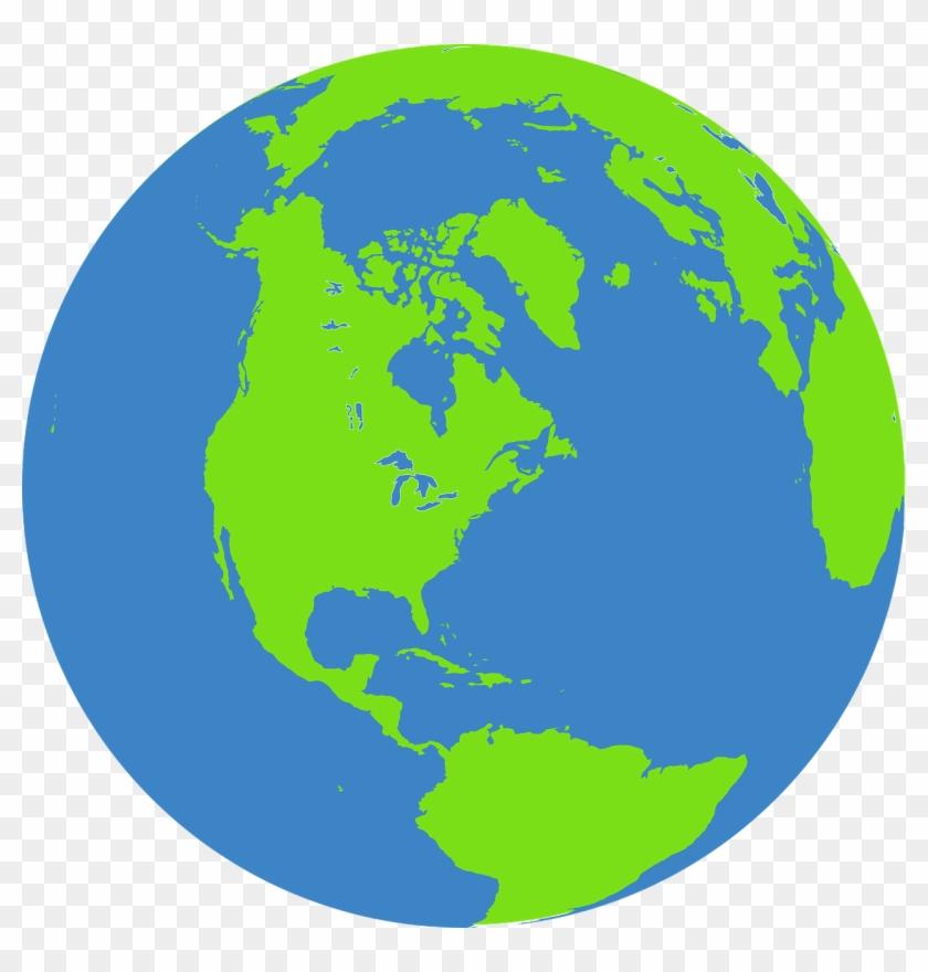Color Globe Svg File - Globe Green And Blue #258680