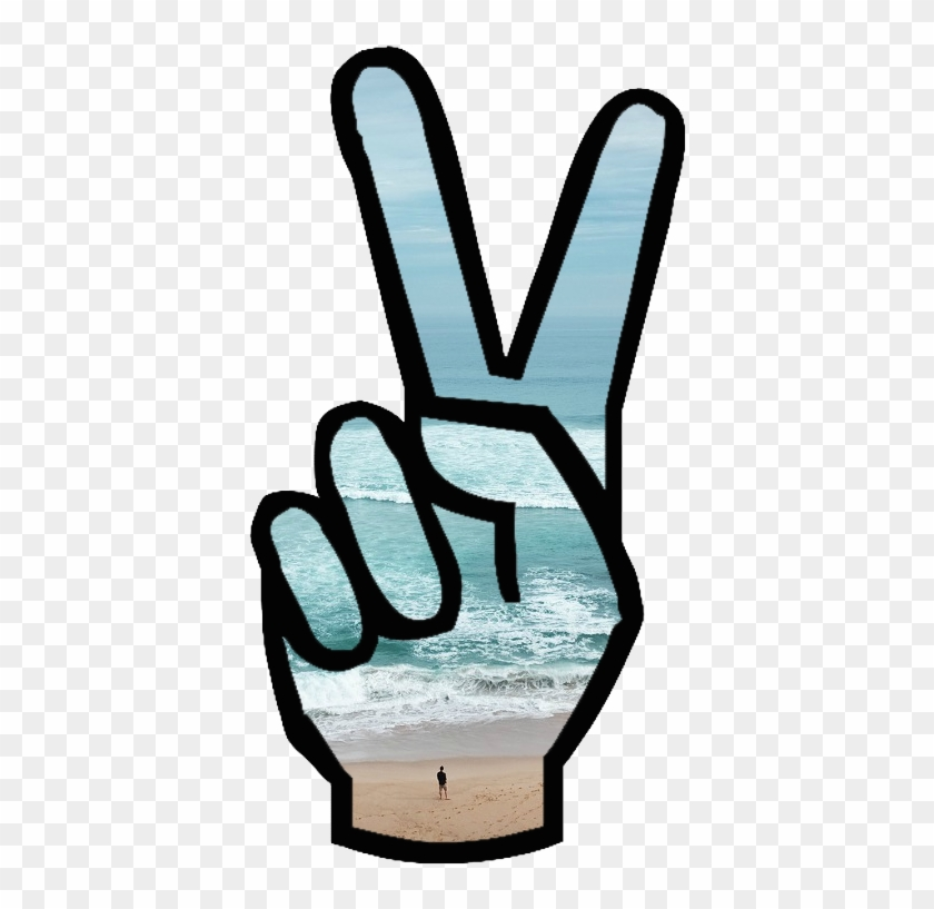 Peace Clipart Tumblr Transparent - Peace Sign Hand #258696