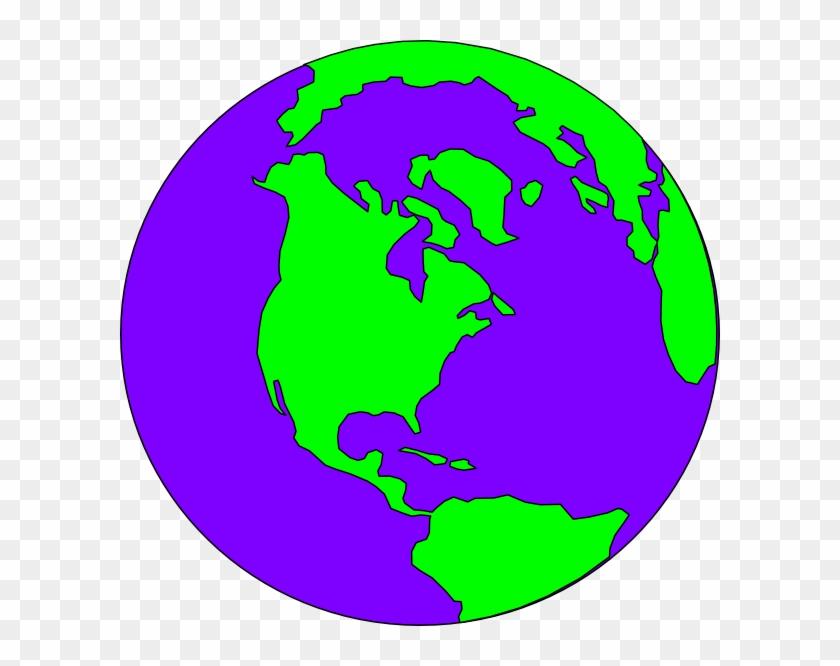 Purple And Green Globe #258710