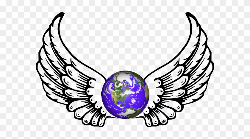 Wings Clipart Earth - Angel Wings And Halo #258714