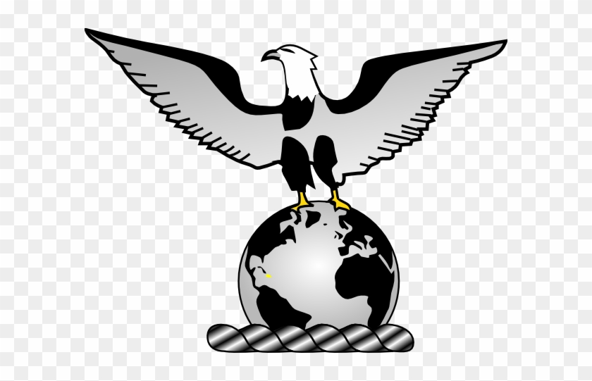 Eagle Over Globe Clip Art - Earth Globe #258774