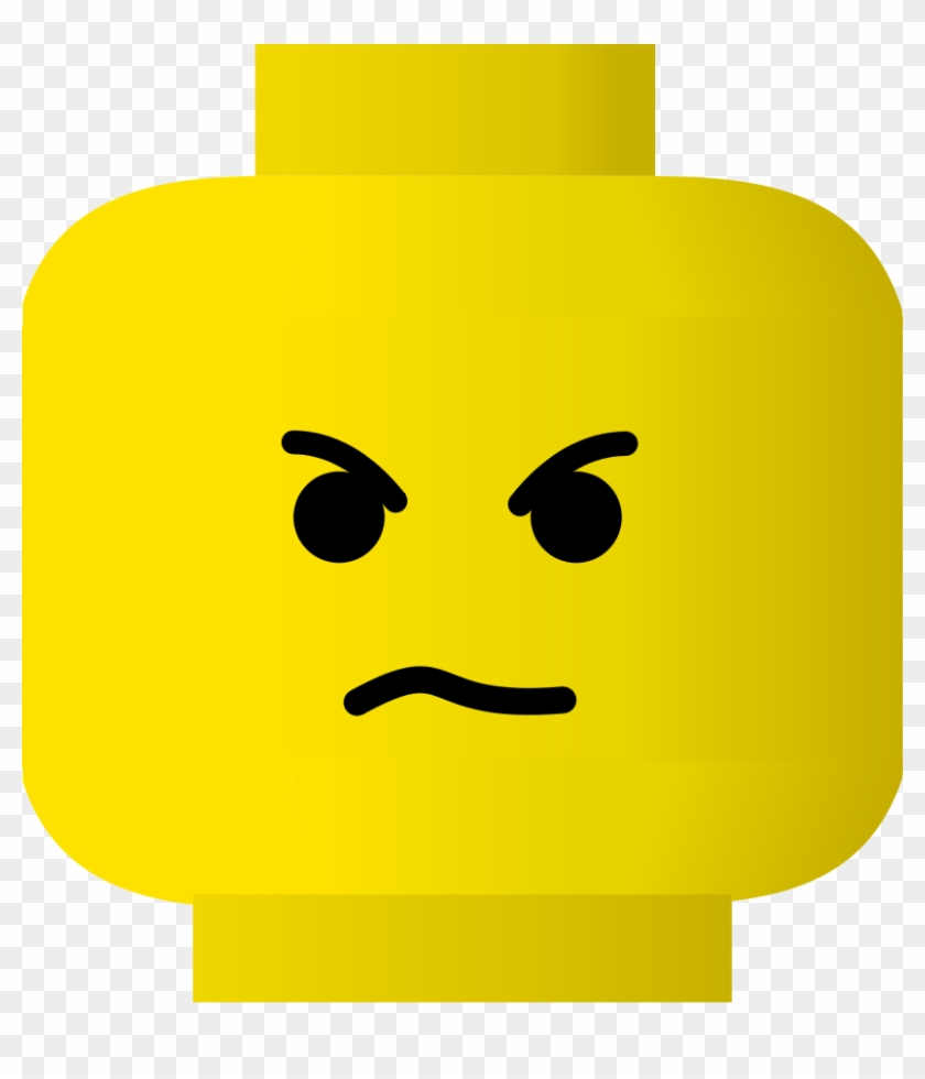 smiley clipart upset - angry lego face - free transparent png