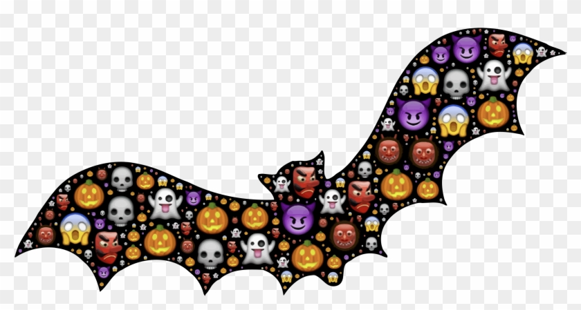 28 Collection Of Colorful Halloween Clipart - Halloween Bat #259065