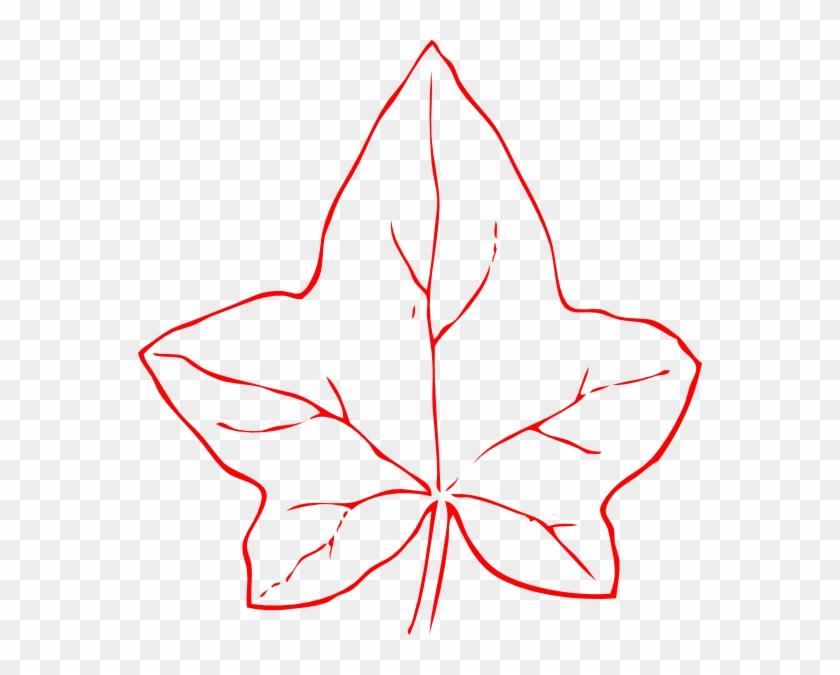 Ivy Leaf Clip Art - Outline Of Fall Leaf #259082