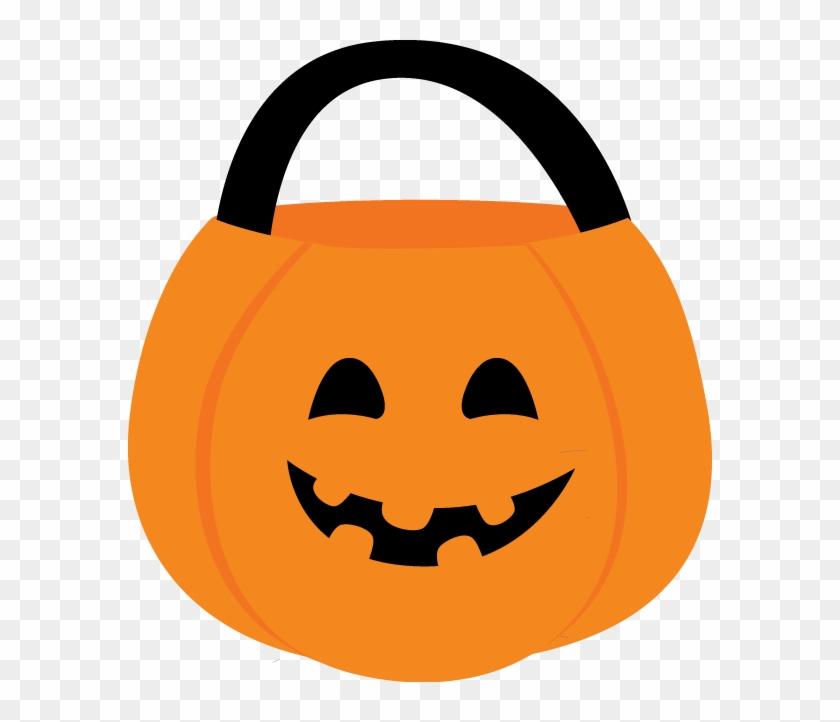 Halloween Pumpkin Basket - Halloween Candy Bucket Clipart #259098