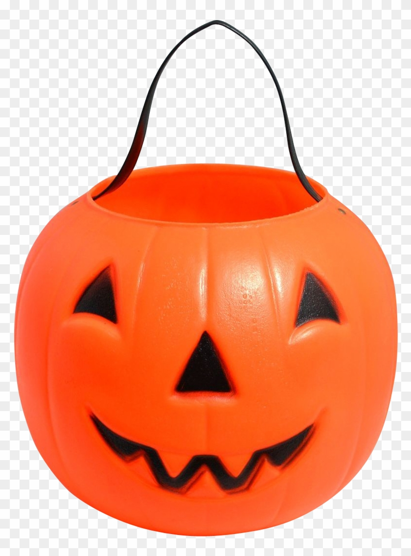 Empire Blow Mold Plastic Jack O Lantern Candy Pail - Halloween Candy Bag Png Transparent #259122