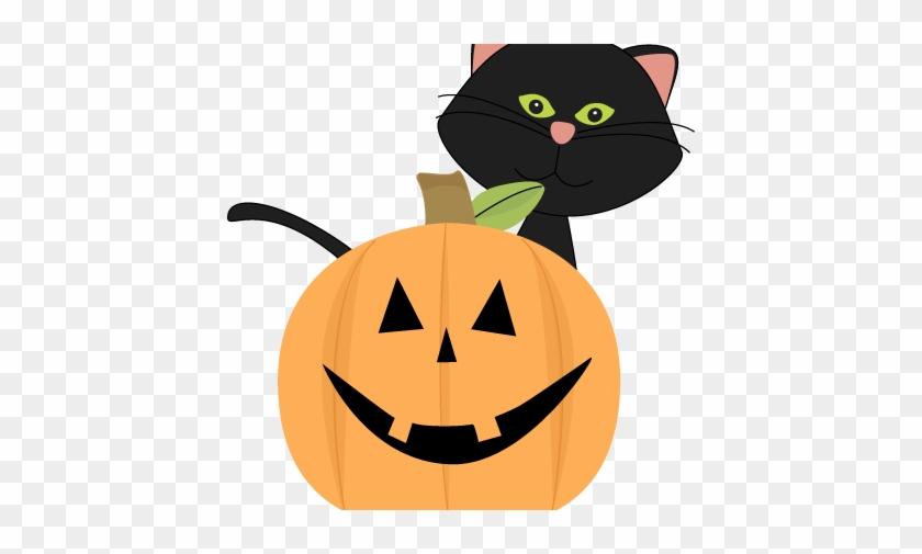 426 X 461 - Cute Halloween Cat Clipart #259150