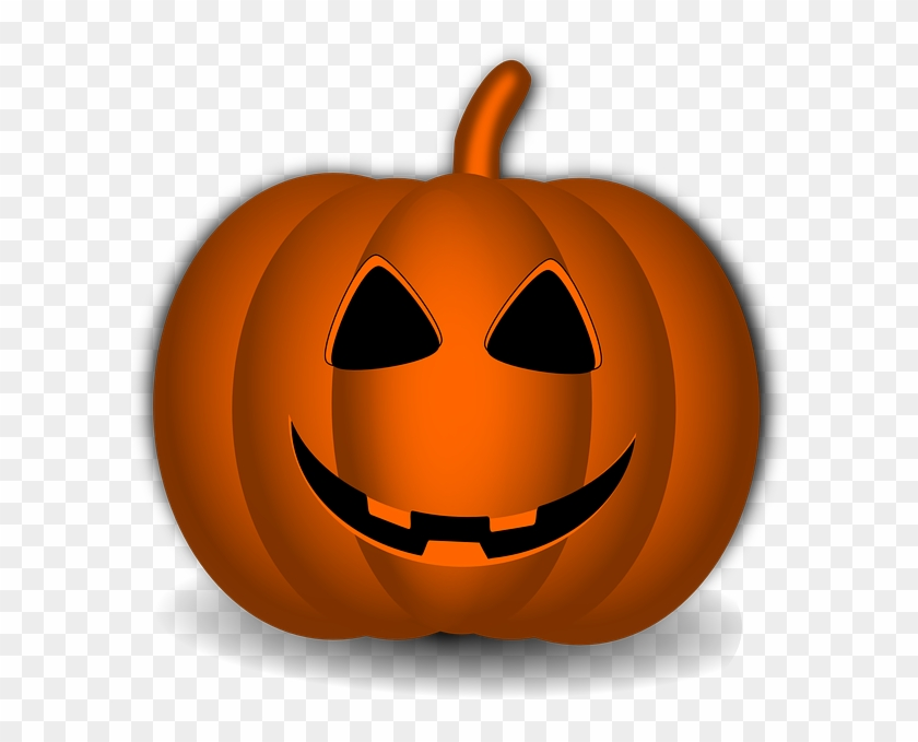 Happy Pumpkin Clip Art At Clker - Happy Face Halloween Pumpkin #259178
