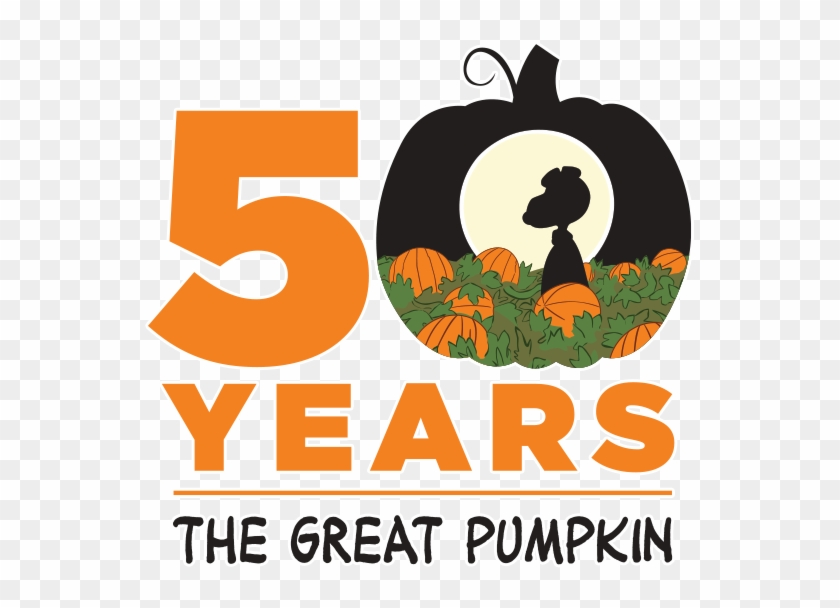 Changing To Night Clipart Pumpkin Farm - Great Pumpkin Charlie Brown 50 Years Logo #259375