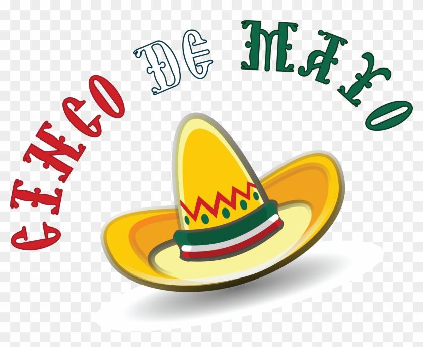 Free Clipart Of A Mexican Sombrero With Cinco De Mayo - Cinco De Mayo Clip Art Png #1682975