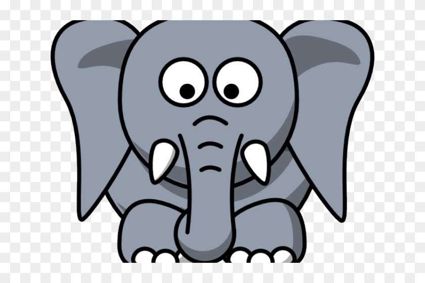 Trunk Clipart Cute Elephant Face - Elephant Face Clip Art #1683217