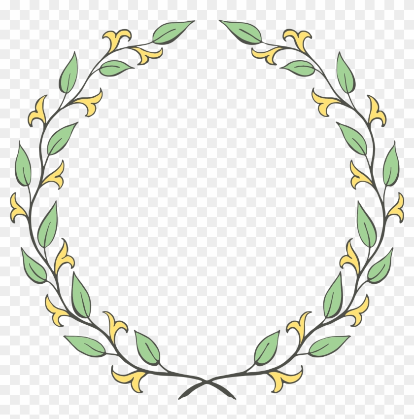 Free Floral Wreath Clip Art Oh So Nifty Vintage Graphics - Floral Wreath Png Laurel #1683619